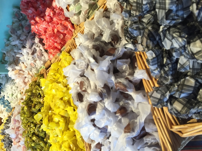 Saltwater taffy at an old school candy store.